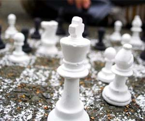 Chalk Chess Set