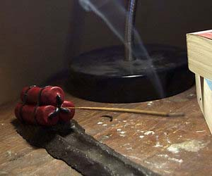 Dynamite Stick Incense Holder