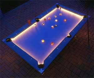 Illuminated Edges Pool Table