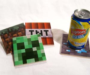 Minecraft Drink Coasters