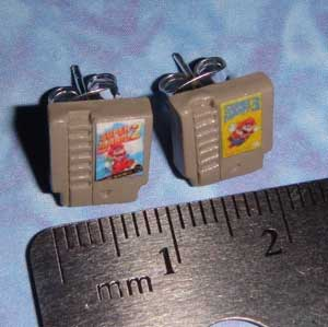 Nintendo Cartridge Earings