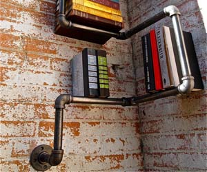 Plumbing Pipes Bookshelf