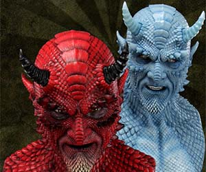Silicone Demon Masks