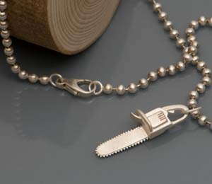 Chainsaw Necklace Charm