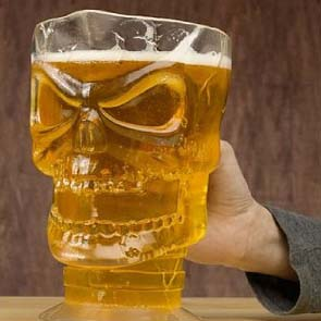 Skull Shaped Beer Pitcher