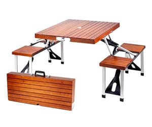 Suit Case Picnic Table