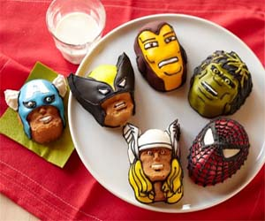 Superhero Mini Cake Molds