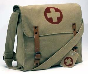 Vintage Medic Messenger Bag